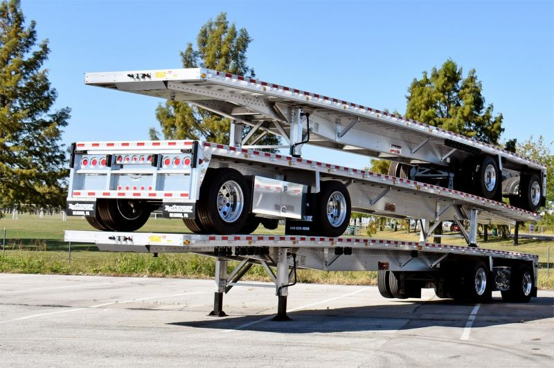 2021 REITNOUER BIG BUBBA ALUMINUM FLATBED TRAILER W/LIFT AXLE 5253203471